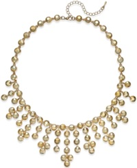 Bar Iii Gold Tone Round Bead Statement Necklace