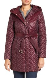 Cole Haan Women's 'Thermore' Water Repellent Quilted Coat Cabernet