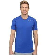 Nike Hypercool Fitted S S Game Royal Deep Royal Blue White Men's Short Sleeve Pullover