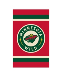 Party Animal Minnesota Wild Applique House Flag Team Color