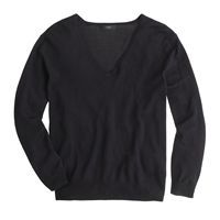 J.Crew Lightweight Merino Wool V Neck Sweater Navy