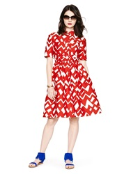 Kate Spade Madison Ave. Collection Chevron Aria Dress Spicy Red