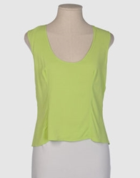 Gai Mattiolo Sleeveless T Shirts Acid Green