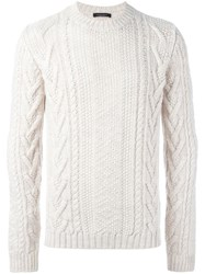 Roberto Collina Textured Knit Sweater White