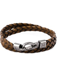 Tod's Braided Two Layer Bracelet Brown