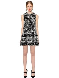 Dolce And Gabbana Marco Wool Blend Tweed Dress