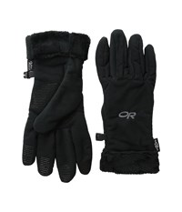 Outdoor Research Fuzzy Sensor Gloves Black Extreme Cold Weather Gloves