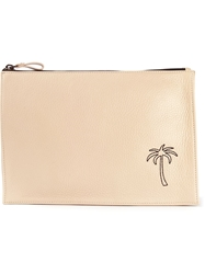 Tomas Maier 'Portatutto' Palm Tree Clutch Nude And Neutrals