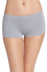Nordstrom Women's Lingerie Seamless Boyshorts Grey Sleet Heather