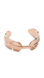 Pamela Love Feather Cuff Bracelet Rose Gold