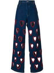 Ashish Cut Out Heart Flared Jeans