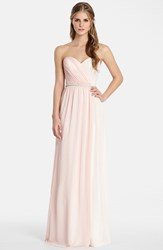 Women's Jim Hjelm Occasions Two Tone Strapless Chiffon Gown