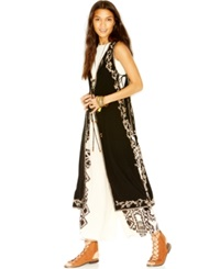Free People Embroidered Maxi Vest