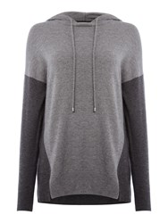 Part Two Stylish Pullover In Soft Cashmere Blend With Cont Grey