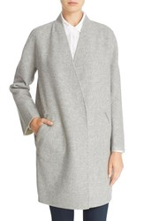 Rag And Bone Women's 'Singer' Reversible Melton Wool Coat Grey Cream