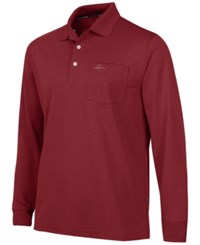 Greg Norman For Tasso Elba Big And Tall 5 Iron Long Sleeve Performance Polo Only At Macy's Bright Crimson