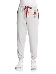Psycho Bunny French Terry Lounge Pants Aluminum