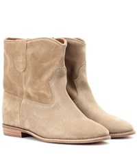 Isabel Marant Etoile Crisi Suede Ankle Boots Green
