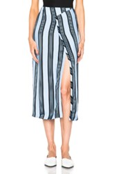 Acne Studios Karlis Stripe Skirt In Blue Stripes