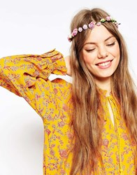 Asos Pretty Rose Tie Up Headband Multi