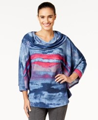 Miraclesuit Cowl Neck Printed Poncho