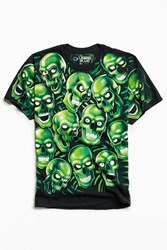 Urban Outfitters Skulls Tee Black