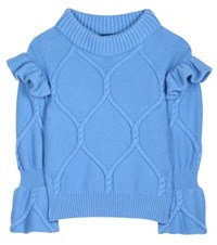 Burberry Wool And Cashmere Sweater Blue