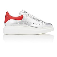 Alexander Mcqueen Men's Oversized Sole Low Top Sneakers Silver