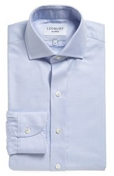 Ledbury Men's Big And Tall 'Royal Oxford' Slim Fit Dress Shirt Blue