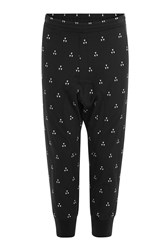 Neil Barrett Printed Harem Pants Black