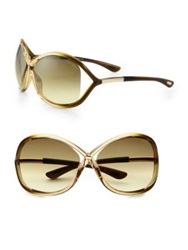 Tom Ford Whitney 64Mm Oversized Oval Sunglasses Golden Rose