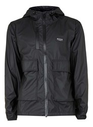 Topman Nicce Black Short Rain Mac
