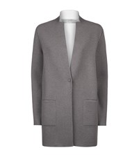 D.Exterior Open Front Knit Jacket Female Grey