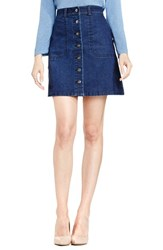 Vince Camuto Women's Two By A Line Denim Miniskirt Twilight
