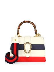 Gucci Dionysus Small Leather Top Handle Bag Camel Mystic White Black