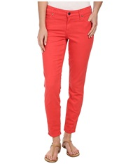 Cj By Cookie Johnson Wisdom Ankle Skinny In Coral Coral Women's Jeans