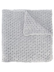 Lala Berlin Crochet Knit Scarf Grey