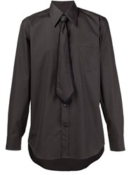 Marc Jacobs Tie Applique Shirt Brown