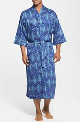 Majestic International 'Spice Market' Kimono Robe Batik Blue