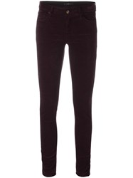 7 For All Mankind Skinny Trousers Red