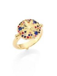 Temple St. Clair Sorcerer Diamond Multicolor Sapphire And 18K Yellow Gold Ring Gold Multi