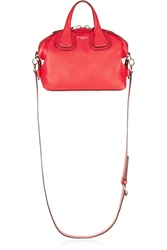 Givenchy Micro Nightingale Shoulder Bag In Red Textured Leather