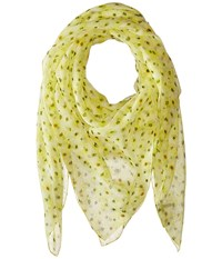 The Kooples Flower Print Seersucker Scarf White Scarves