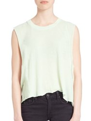 Wildfox Couture Motel Dreamers Asymmetric Tank Top Juniper Mint