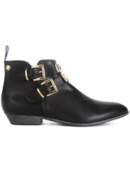 Love Moschino Buckled Ankle Boots Black