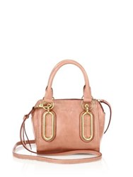 See By Chlo Hazel Mini Leather Satchel Shadow Blue Misty Pink