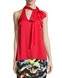 Milly Silk Crepe Scarf Halter Top