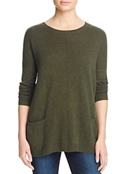 Bloomingdale's C By Pocket Cashmere Sweater Loden