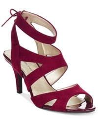 Bandolino Misilana Lace Up Sandals Wine