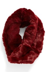 Badgley Mischka Women's Faux Chinchilla Neck Warmer Bourgogne